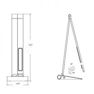 Manicure Lamp dimensions